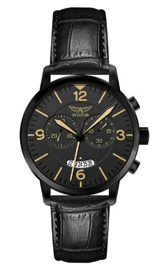 Watches For Spring/ Summer 16- Aviator Airacobra Chrono Black Strap Watch