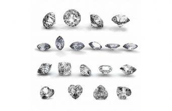 Diamond Shapes - Diamonds are graded based on the 4 C's