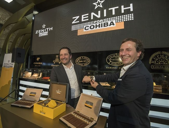 Zenith Cohiba partnership with Pilot Type 20 special editions