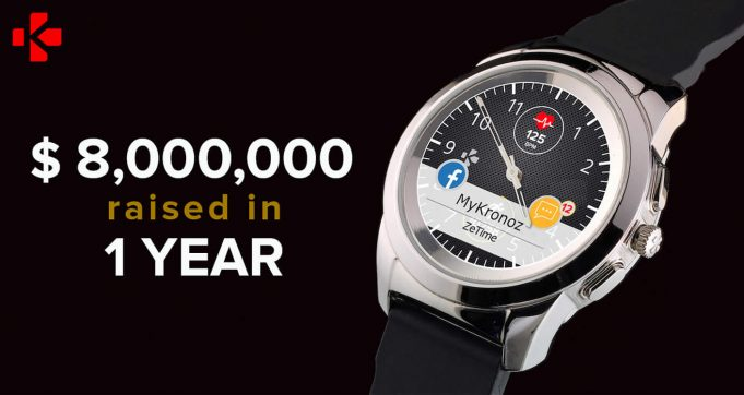 MyKronoz ZeTime hybrid smartwatch tops $8M in crowdfunding