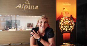 French FIS WorldcupSnowboarder Nelly Moenne-Loccoz- Alpina Watches Brand Ambassador