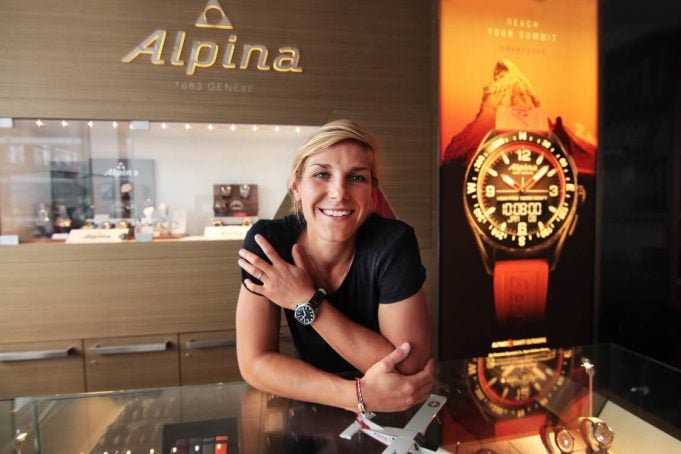 French FIS Worldcup Snowboarder Nelly Moenne-Loccoz- Alpina Watches Brand Ambassador