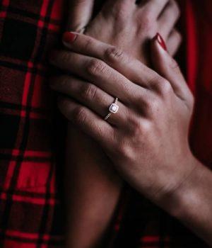 Custom design ring as an engagement gift