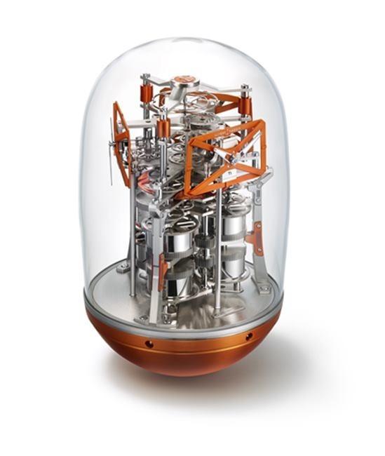The Ulysse Nardin futurist ovoid table clock called UFO