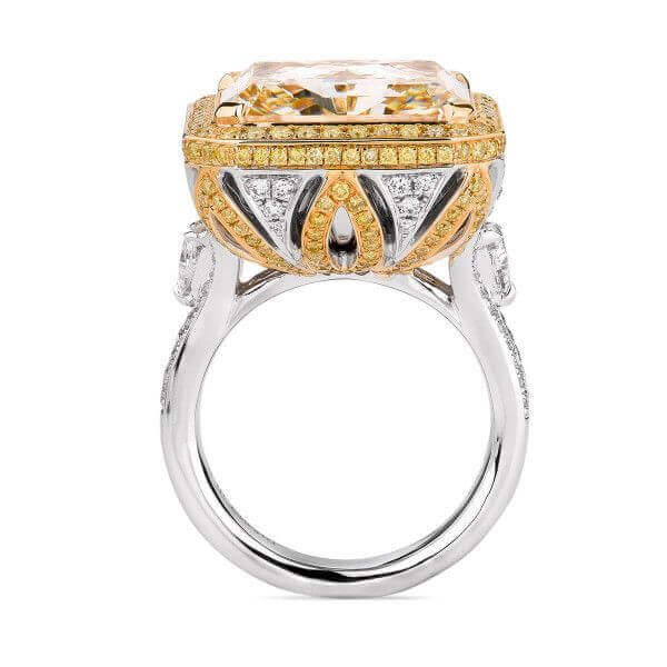 The significance of a yellow diamond ring